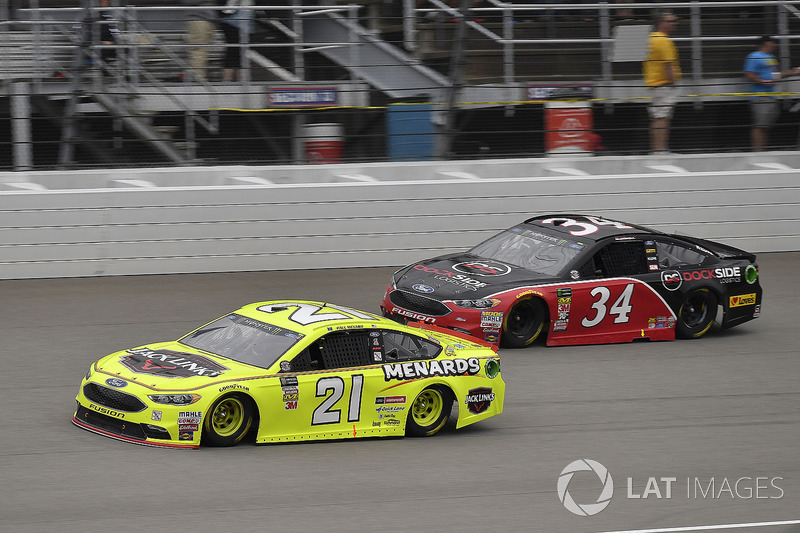 Paul Menard, Wood Brothers Racing, Ford Fusion Menards / Jack Links e Michael McDowell, Front Row