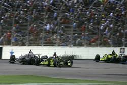 Josef Newgarden, Team Penske Chevrolet, Charlie Kimball, Carlin Chevrolet