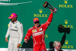 Tercero, Kimi Raikkonen, Ferrari celebra
