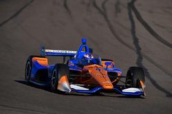 Scott Dixon, Chip Ganassi Racing Honda prova l'aeroscreen