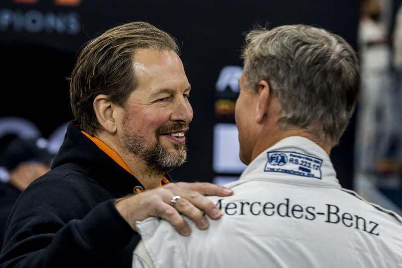 Fredrik Johnsson con David Coulthard