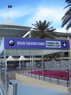 Main grandstand entrance