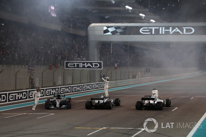 Lewis Hamilton, Mercedes-Benz F1 W08 . Valtteri Bottas, Mercedes-Benz F1 W08 and Felipe Massa, Will