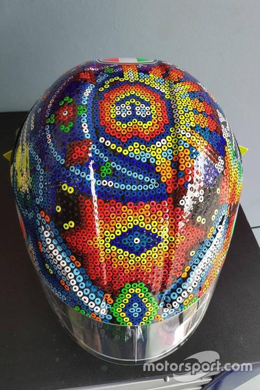 Helmet Of Valentino Rossi Yamaha Factory Racing At Rossi