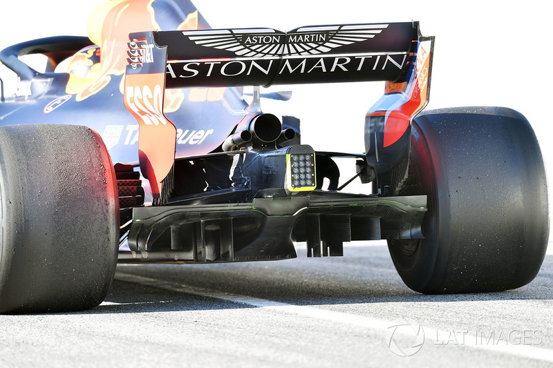 Red Bull RB14: Diffusor