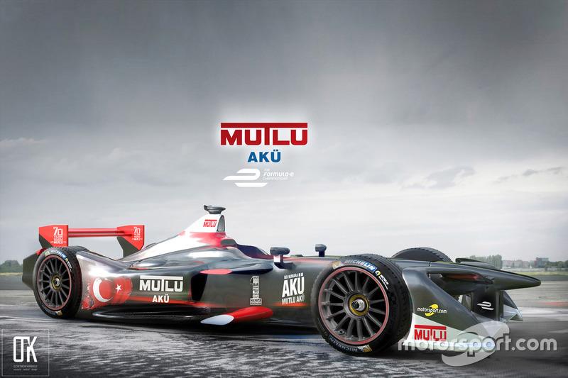 Mutlu Akü Formula E aracı fantezi konsept tasarımı