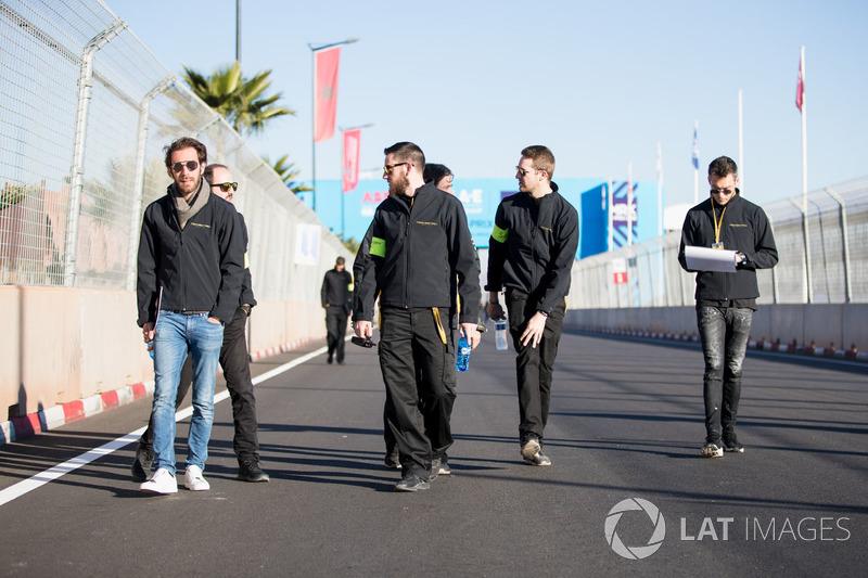 Jean-Eric Vergne, Techeetah checks out the circuit