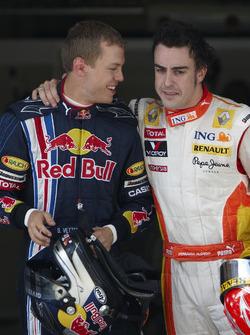 Sebastian Vettel, Red Bull Racing con Fernando Alonso, Renault F1 Team