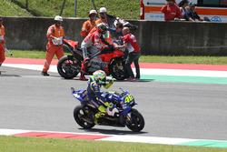 Race winner Jorge Lorenzo, Ducati Team, Valentino Rossi, Yamaha Factory Racing