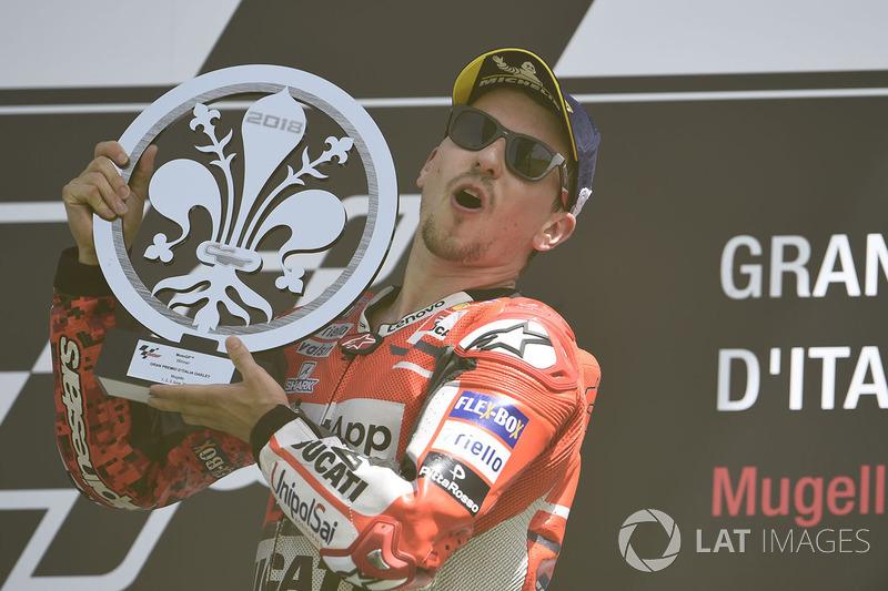 Podio: ganador de la carrera Jorge Lorenzo, Ducati Team