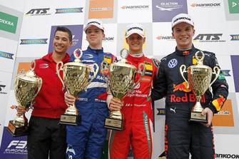 Podium: Race winner Mick Schumacher, PREMA Theodore Racing Dallara F317 - Mercedes-Benz, second place Robert Shwartzman, PREMA Theodore Racing Dallara F317 - Mercedes-Benz, third place Dan Ticktum, Motopark Dallara F317 - Volkswagen