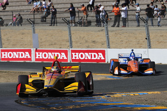 Ryan Hunter-Reay, Andretti Autosport Honda, Scott Dixon, Chip Ganassi Racing Honda