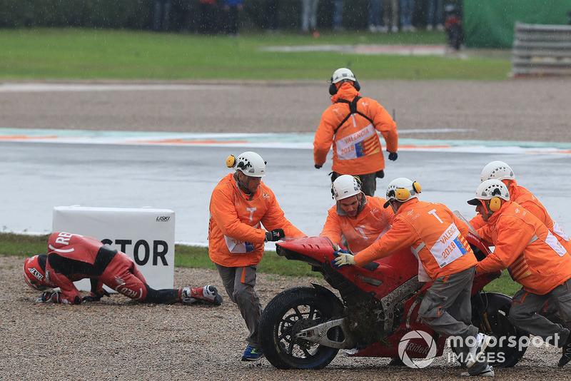 Алейш Еспаргаро, Aprilia Racing Team Gresini, після аварії