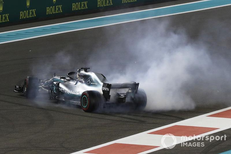 Ganador de la carrera Lewis Hamilton, Mercedes AMG F1 W09