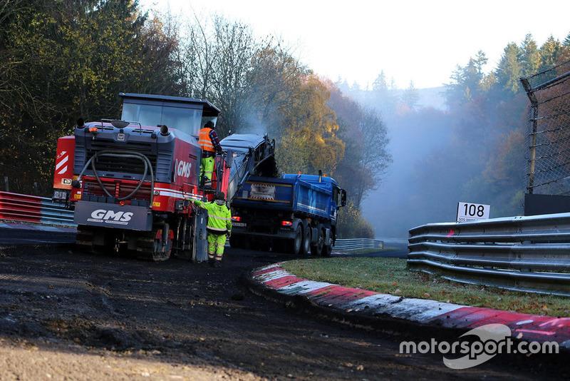 Bauarbeiten an der Nürburgring-Nordschleife