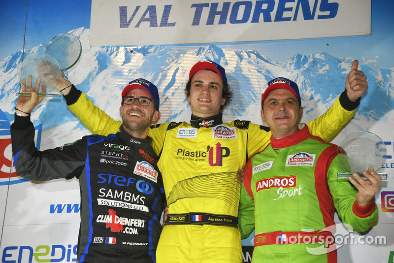 Podium: Olivier Pernaut, Aurélien Panis, Franck Lagorce