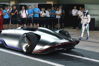 Valtteri Bottas, Mercedes AMG F1 and Mercedes-Benz, EQ Silver Arrow concept car