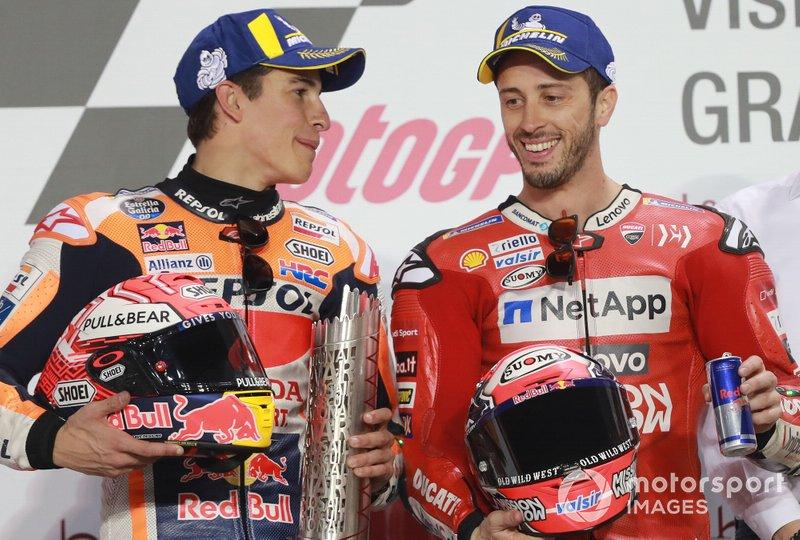 Podio: Marc Márquez, Repsol Honda Team, Andrea Dovizioso, Ducati Team