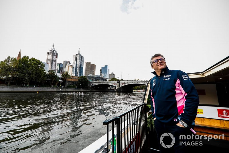 Otmar Szafnauer, team principal, Racing Point on the way to the Federation Square event