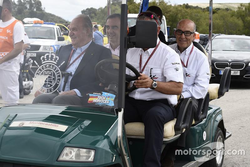 Former Spanish King Juan Carlos with Carmelo Ezpeleta, CEO Dorna Sports