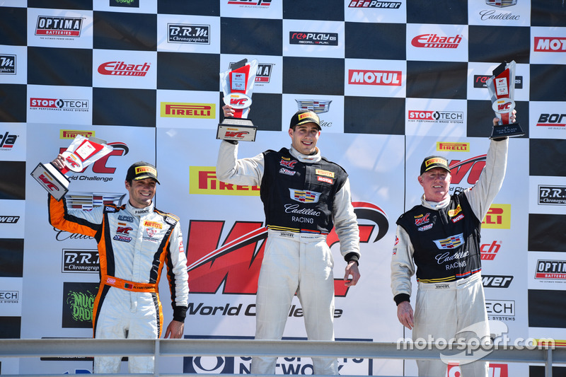 Podium GT: 1. Michael Cooper, Cadillac Racing; 2. Alvaro Parente, K-Pax Racing; 3. Johnny O'Connell,