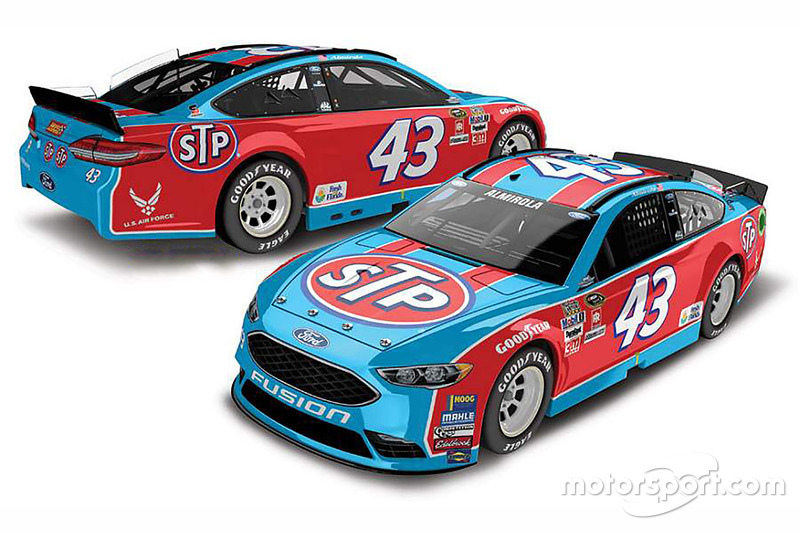 Aric Almirola, Richard Petty Motorsports Ford, livrea speciale