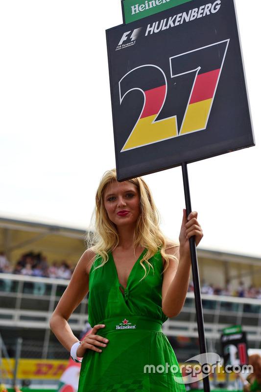 Grid girl di Nico Hulkenberg, Sahara Force India F1