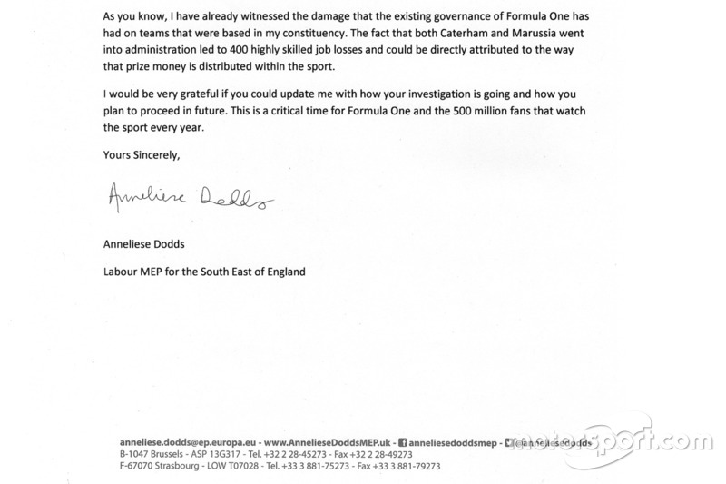 Anneliese Dodds carta a la Comisaria Europea de competencia - parte 4