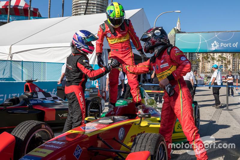 Ganador de la carrera Lucas di Grassi, ABT Schaeffler Audi Sport, segundo lugar Stéphane Sarrazin, Venturi, tercer lugar Daniel Abt, ABT Schaeffler Audi Sport