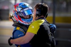 Jake Hughes, DAMS celebrates pole position