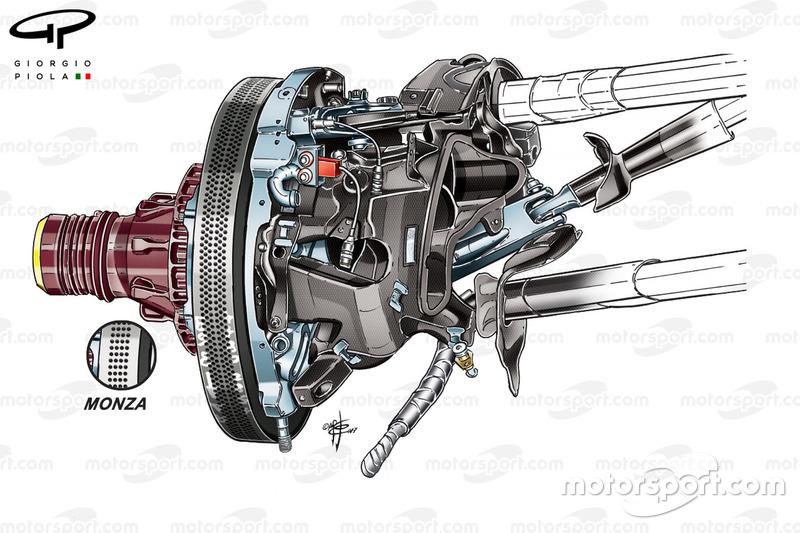 Ferrari SF70H freno anteriore, GP di Singapore