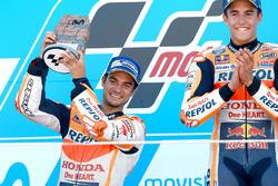 Podium: Racewinnaar Marc Marquez, Repsol Honda Team, tweede plaats Dani Pedrosa, Repsol Honda Team