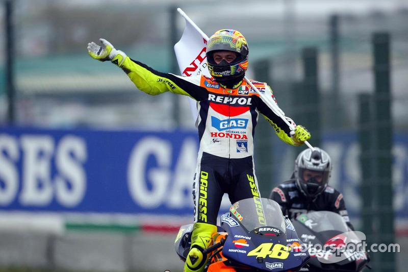 El ganador Valentino Rossi, Repsol Honda Team