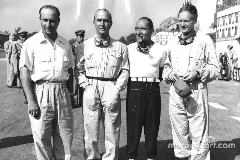 Alfa Romeo: Juan Manuel Fangio, Giuseppe Farina, Felice Bonetto und Emmanuel de Graffenried