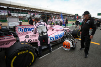 Dr. Vijay Mallya, Sahara Force India Formula One Team Owner at the car of Esteban Ocon, Sahara Force India VJM10