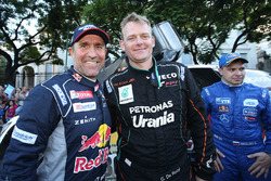 Stéphane Peterhansel, Peugeot Sport, Gerard de Rooy, Team De Rooy at the finish