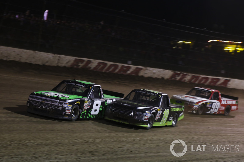John Hunter Nemechek, SWM-NEMCO Motorsports Chevrolet, Austin Cindric, Brad Keselowski Racing Ford