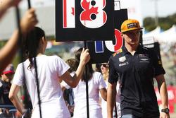 Max Verstappen, Red Bull, op de rijdersparade