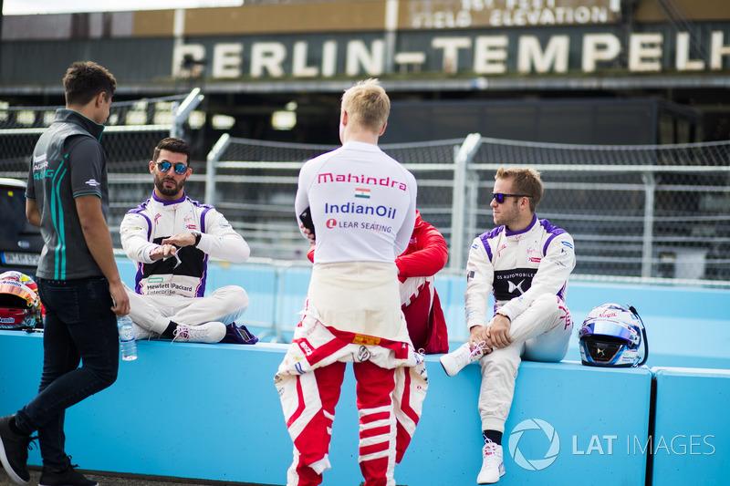 Mitch Evans, Jaguar Racing, Jose Maria Lopez, DS Virgin Racing, Felix Rosenqvist, Mahindra Racing, Nick Heidfeld, Mahindra Racing, Sam Bird, DS Virgin Racing