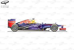Red Bull RB9 side view, Italian GP