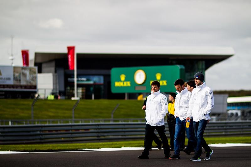 #97 Aston Martin Racing Aston Martin Vantage: Darren Turner, Jonathan Adam, Daniel Serra during track walk