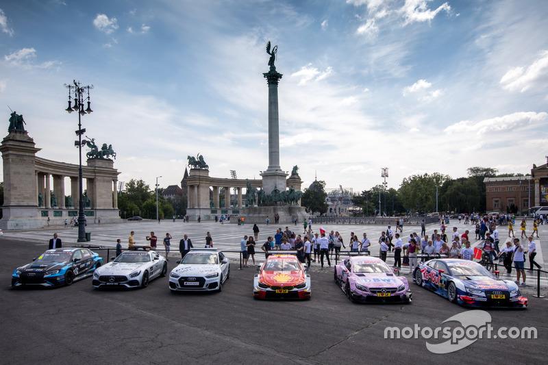Autos der DTM und TCR International Series in Budapest