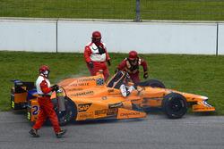 Fernando Alonso, Andretti Autosport Honda, Motorschaden