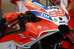 Jorge Lorenzo, Ducati Team, détails du nouveau carénage