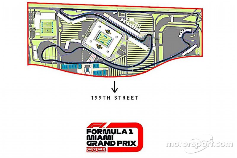 Miami Grand Prix Track Layout