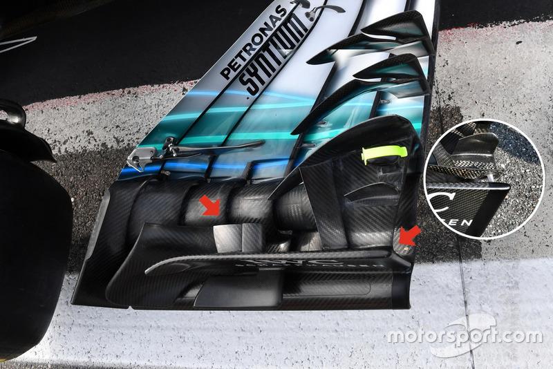Mercedes-AMG F1 W09 detalle del alerón frontal