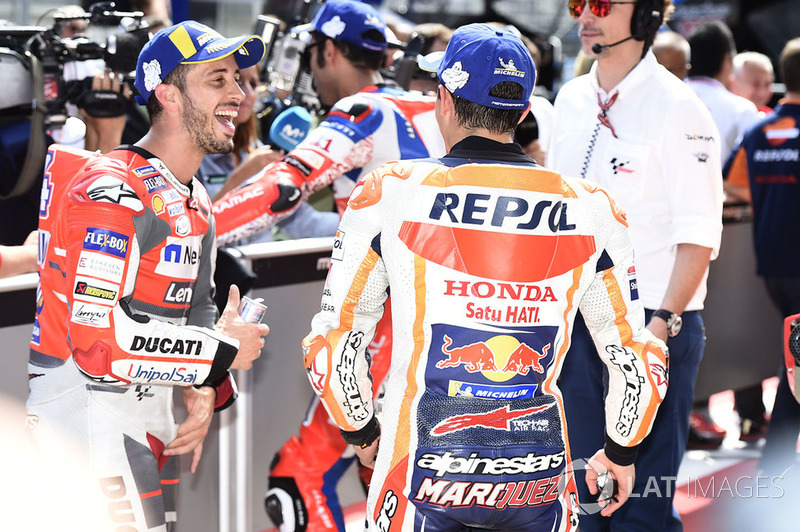 Володар поул-позиції Марк Маркес, Repsol Honda Team, друге місце Андреа Довіціозо, Ducati Team