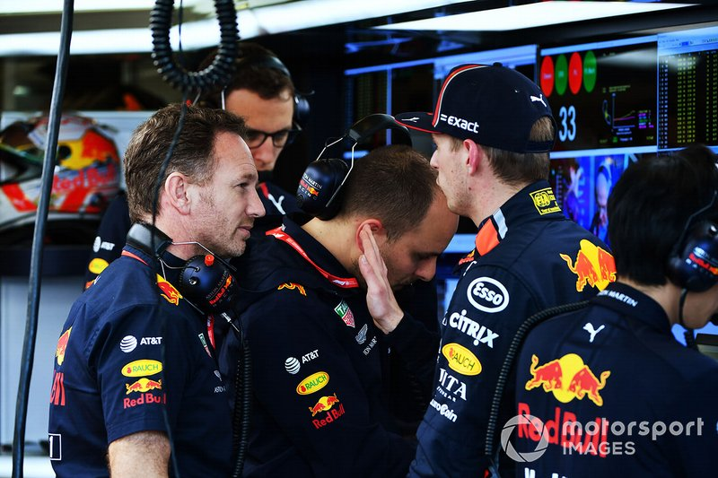 Christian Horner, Team Principal, Red Bull Racing, Max Verstappen, Red Bull Racing