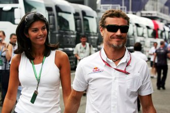 David Coulthard, Red Bull Racing with his girlfriend Karen Minier