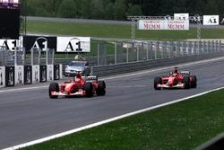 Michael Schumacher, Ferrari, Rubens Barrichello, Ferrari